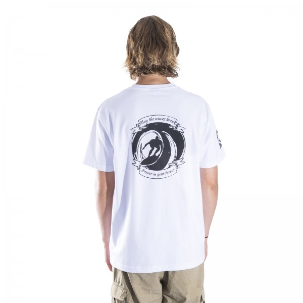 "White ""J-Surfer"" Tee"